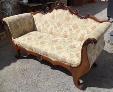 di-011, Biedermeier style sofa, 1860y, l-177cm