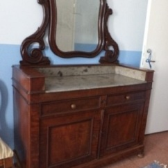 ka-019, Biedermeier style dressing table, 1860y, l-125cm, h-180cm