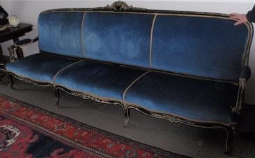 nr.h-092, divan stile Louis XIV, 19.vek, l-3m